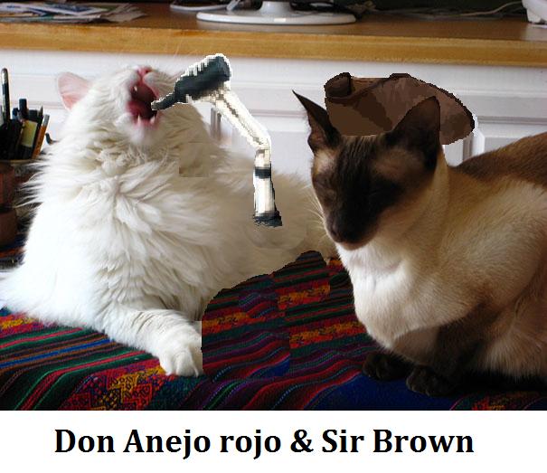 Don anejo rojo a Sir Brown